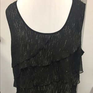 VERVE Ami Sparkly sleeveless top
